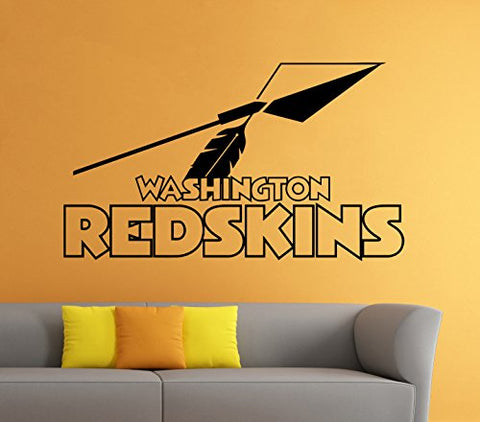 Washington Redskins Wall Vinyl Decal Sticker Nfl Emblem Football Logo Sport Home Interior Removable Decor (22 High X 38 Wide)