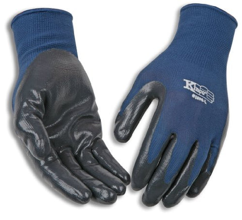 1890-Xl X-Large Gray Nitrile Coated Gloves W/Dk Blue Nylon Knit Shell