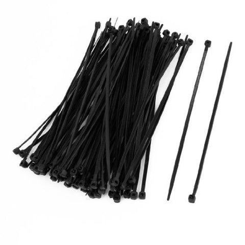 Uxcell Electrical Cable Tie Wrap Nylon Fastening, 100 Pcs, 150Mm X 3Mm, Black