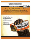 Gorilla Glue 6010002 Gorilla Tape, 2 Inches X 10 Yards, White
