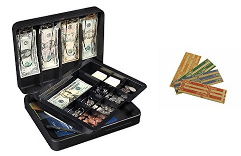 Honeywell 6113T Deluxe Steel Cash Box With Bonus Coin Rolls