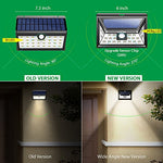 Litom 24 Led Solar Lights Outdoor, Super Bright Motion Sensor Lights With Wide Angle Illumination, Wireless Waterproof Security Lights For Wall, Driveway, Patio, Yard, Garden-