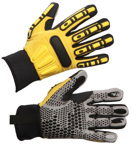 Impacto Wgwinriggm Dryrigger Oil And Water Resistant Winter Glove, Yellow/Black