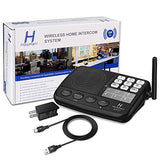 Hosmart 1/2 Mile Long Range 7-Channel Security Wireless Intercom System For Home Or Office (2017 New Vesion)