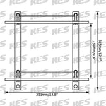 Kes Bathroom Lavatory Double Glass Shelf Wall Mount, Brushed Sus304 Stainless Steel, Bgs2202B-2