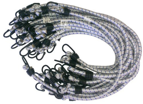 Kotap Mbc-24Wht Heavy-Duty   24-Inch Bungee Cord, White, 20-Piece