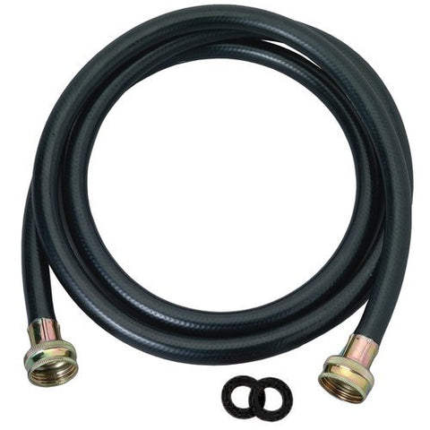 Washing Machine Hose Black Rubber, 4 Foot, Made In The Usa