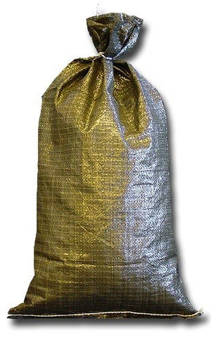 Military Sand Bags Deluxe Quality - 20 Sandbags, Polypropylene Empty Heavy Duty Green Poly