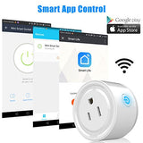Smart Wifi Plug Outlet Works With Alexa, Linkstyle 2 Packs Mini Smart Wifi Socket Plug Timing Function No Hub Required Control Your Home Appliances From Anywhere For Ios Android Smartphones Tablets