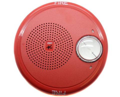 Edwards Genesis Red Ceiling Speaker-Strobe With Fire Marking Gcf-S7Vmh
