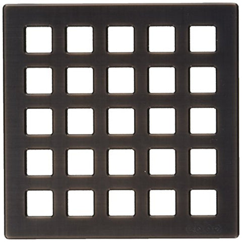 E4803-Orb Quadra Decoratve Drain Grate, Oil Rubbed Bronze