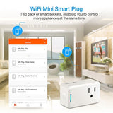 Wifi Smart Plug 2 Pack, Imillet Wireless Mini Outlet Switch, Works With Amazon Alexa, No Hub Required, Remote Control Devices From Anywhere, Ul Listed With Timing Function, Occupies Only One Socket
