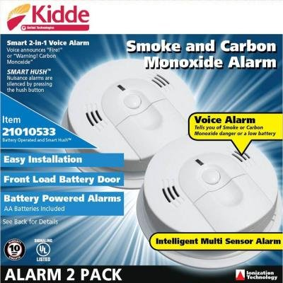 Kidde Kn-Cosm-Xrt-B Intelligent Battery Operated Combination Smoke And Carbon Monoxide Alarm,