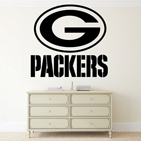 Green Bay Packers Wall Vinyl Decal Nfl Sticker Emblem Football Team Logo Sport Home Interior Removable Decor