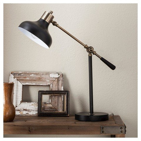 Crosby Schoolhouse Desk Lamp - Ebony -Threshold (Includes Cfl Bulb)