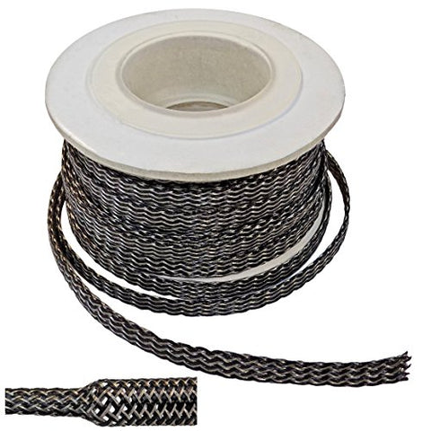 1/2 Tinned Copper Metal Pet Expandable Braided Sleeving - 50Ft