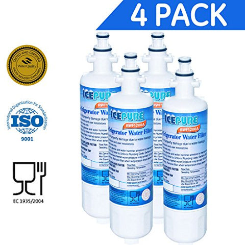 Icepure Rfc1200A-4Pk Water Filter Replacement Cartridge For Lg