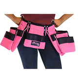 Pink Tool Belt For Women. Keep Your Gardening And Home Improvement Tools Within Hands Reach. Ladies Stylish Belt W/ Pouches Carry Your Cleaning Supplies W/ You. Use It For Leisure Or Take It To Work