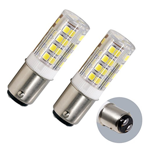 Led Ba15D Corn Bulb, Ba15D Double Contact Bayonet Base, 5W 50W Equivalent 120 Volts, Dimmable 500Lm Max , Daylight(5100K)