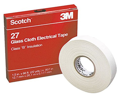 White Glass Cloth Electrical Tape, 3/4  Width, 66 Ft. Length, 7 Mil Thickness - 1 Each