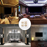 Hongye 5.2 Speaker 2-Gang Wall Plate, Premium Gold Plated Banana Plug Binding Surround Sound Distribution With 5 Pair Speakers & 2 Rca For Home Theater/Subwoofer/Home Audio/Ps4/Xbox/Hdtv(White)