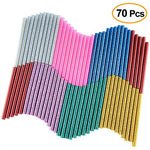 Kuuqa 70 Pcs Glitter Hot Melt Glue Adhesive Glue Sticks For Diy Art Craft 7 X 100Mm (7 Colors)