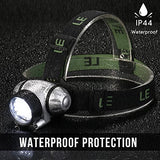 Le Headlamp Led, 4 Modes Headlight, Battery Powered Helmet Light For Camping, Running, Hiking And Reading, 3 Aaa Batteries Included