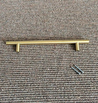 Goldenwarm 3In Hole Centres Brushed Brass Cabinet Drawer T Bar Kitchen Pull Cupboard Door Handle Gold Wardrobe Hardware Knob 5In Overall Length 10Packs