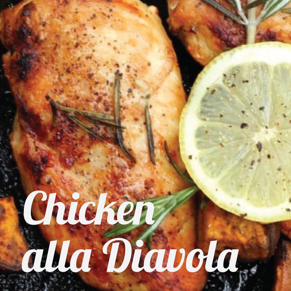 March 8 Date Night Bag: The Devil Likes It Spicy: Chicken Alla Diavola