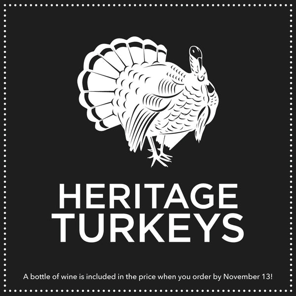 Whole Local Heritage Turkey for Thanksgiving