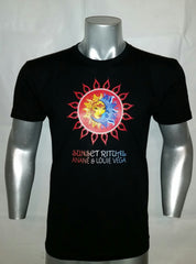 SUNSET RITUAL BLACK MEN'S CREW TEE