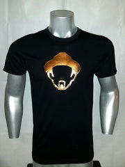 GOLD FOIL MEN'S BLACK SHIRT PICTURE