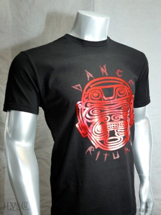 DANCE RITUAL RED FOIL MEN'S WHITE/BLACK SHIRT