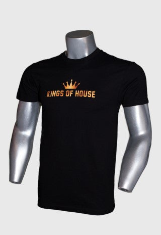 KINGS OF HOUSE MEN'S BLACK T-SHIRT