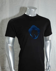 LOUIE VEGA HEAD ROYAL BLUE FOIL MEN'S BLACK SHIRT
