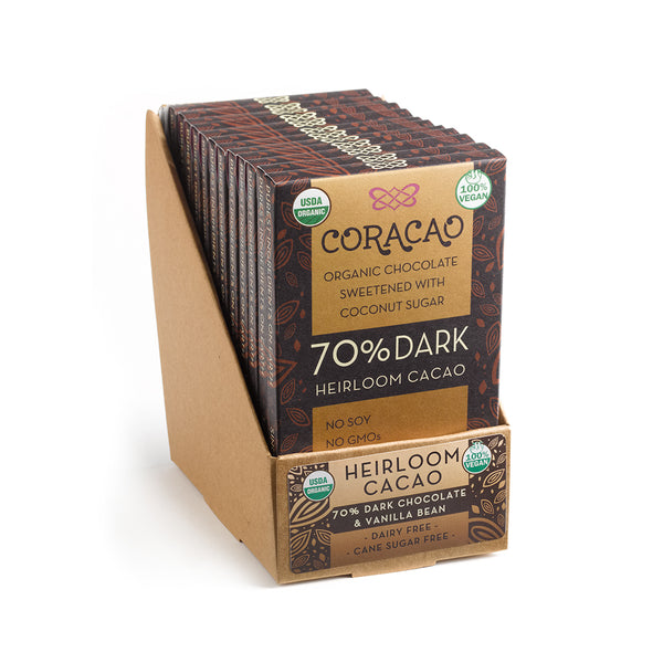 70% Heirloom Cacao (24 oz - 12 in Case)