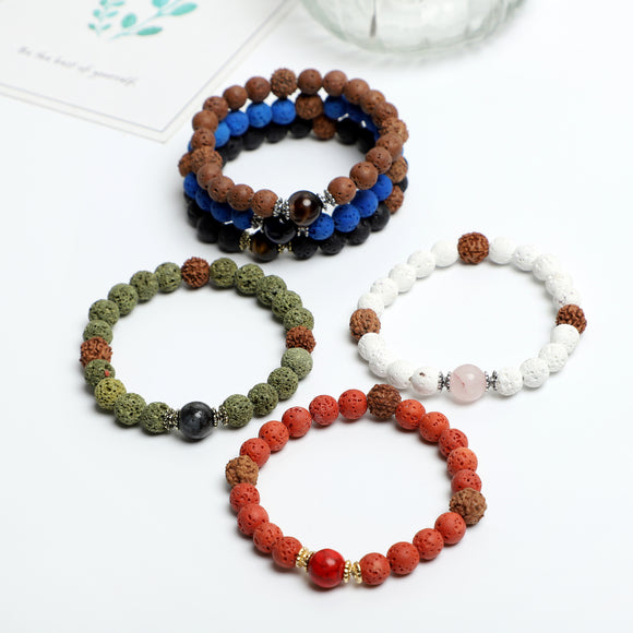 STAR OF STONE Bracelets ( 8mm Lava Rock, Gemstone beads )