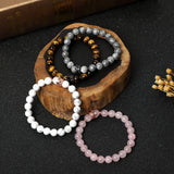 Crown Bracelets (8mm gemstone beads)