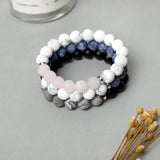 Frosted Gemstone Bracelets ( 10mm Gemstone beads)
