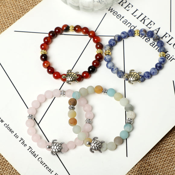 Tortoise Bracelets (8mm Gemstone beads)