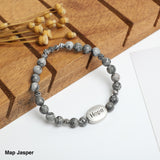"""HOPE"" Gemstone Bracelets ( 6mm Gemstone beads)"