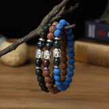""" Buddha"" Bracelets ( 8mm Gemstone, Lava , Wooden beads)"
