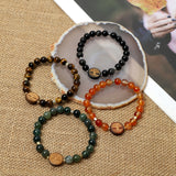 """The Tree of Life""  Bracelets ( 8mm Lava, Wooden, Gemstone beads )"