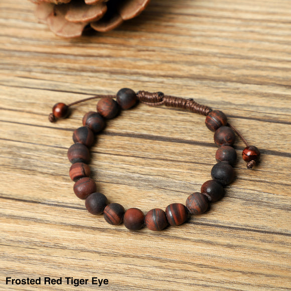 Weaved Red Tiger Eye Bracelet