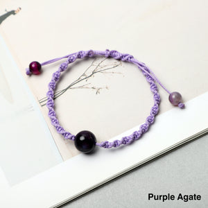 Weaved Bracelets( 8mm Gemstones, Lava Rock beads)
