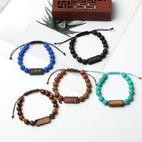 """LOVE"" Bracelets  (8mm Lava Rock, Wooden, gemstone beads)"