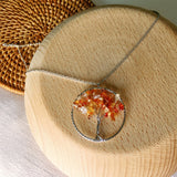 The Tree of life Chips Stone Necklace