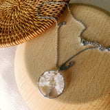 Small Tree of life Chips Stone Necklace