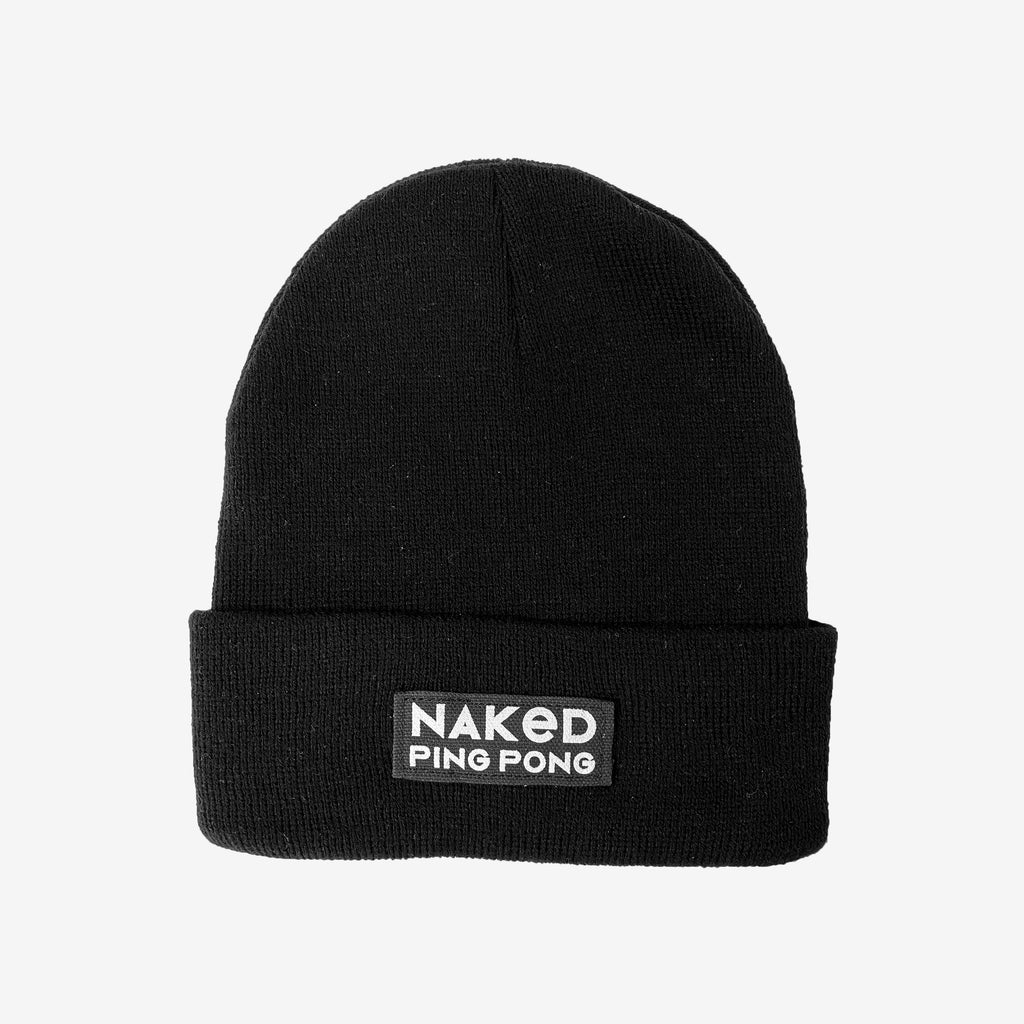 Black Naked Ping Pong Beanie