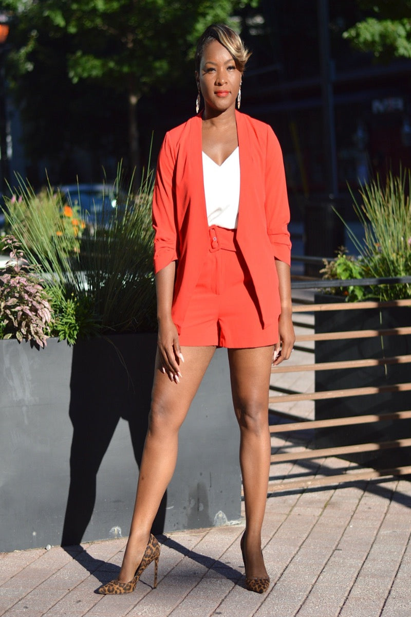 Candy Apple Red Short Suit